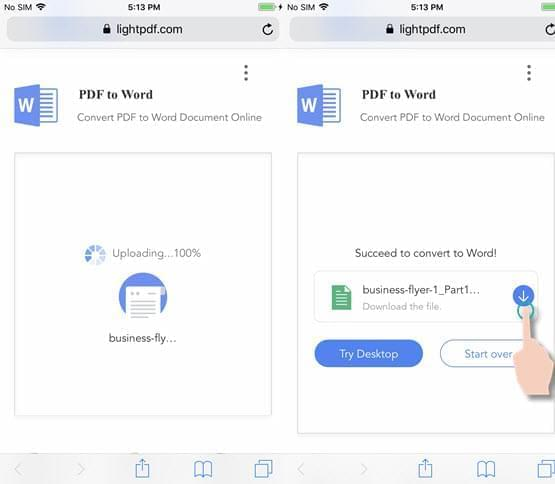 convert pdf to google doc on ipad
