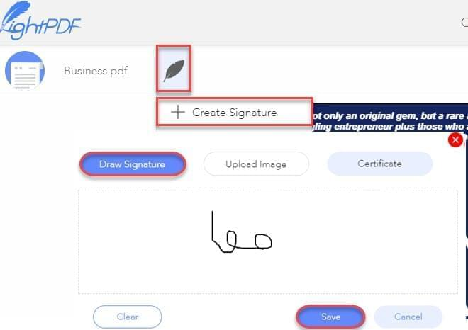draw signature and save it