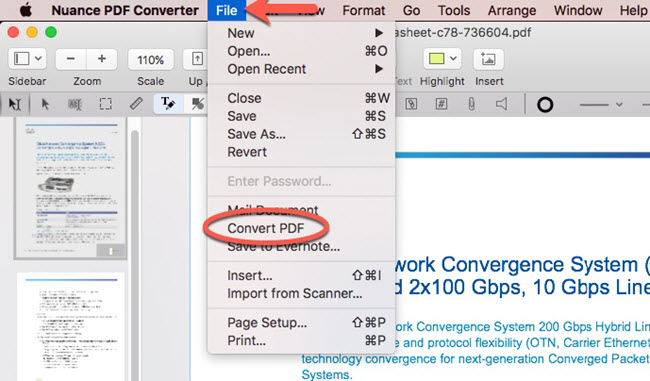 Handy PDF viewer with marking tools and built-in converter
