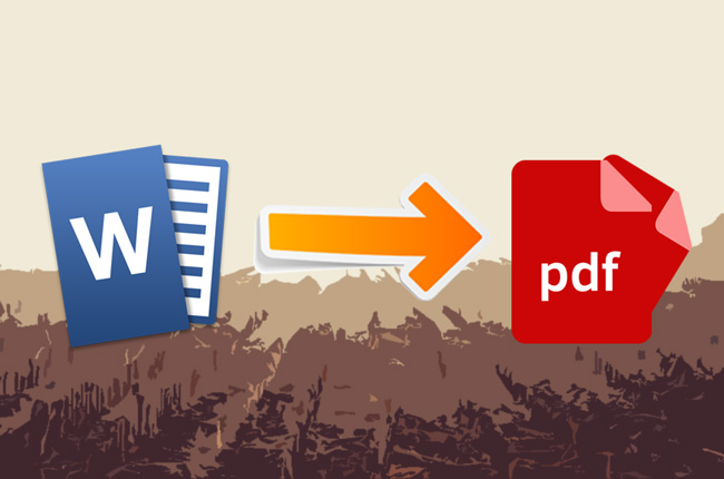 Create PDF from Word